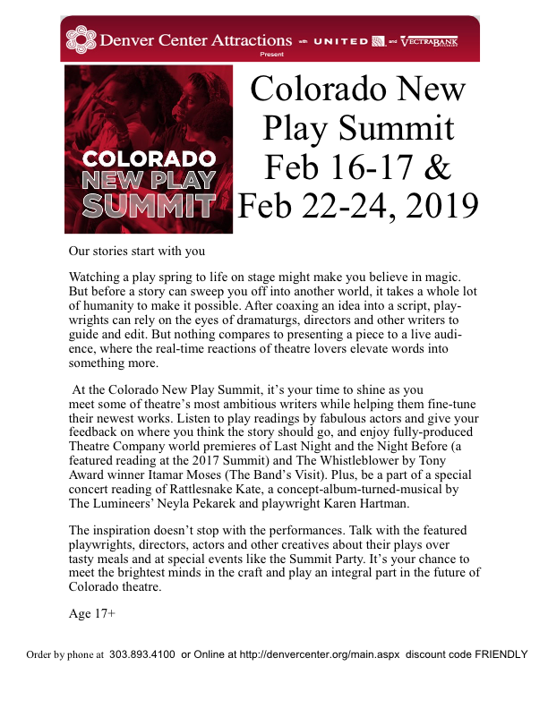 Colorado New Play Summit 2019